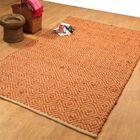 Hand-Woven Rust Area Rug Rug Size: 8' x 10'
