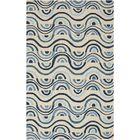 Aura Beige/Blue Indoor/Outdoor Area Rug Rug Size: Rectangle 5' x 7'6