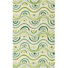 Aura Beige/Green Indoor/Outdoor Area Rug Rug Size: Rectangle 5' x 7'6