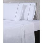 600 Thread Count Cotton Sheet Set Color: White/Black, Size: King