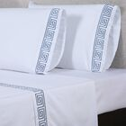 600 Thread Count Cotton Sheet Set Size: King, Color: White/Blue