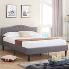 Classic Deluxe Platform Bed Size: Full, Color: Gray