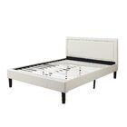 Deluxe Upholstered Platform Bed Size: Full, Color: Ivory