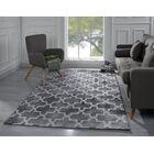Riddell Moroccan Trellis Gray Area Rug Rug Size: 5' x 7'