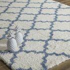 Maxine Quatrefoil Ivory/Light Blue Area Rug Rug Size: 8' x 10'