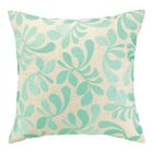 Iza Pearl Fancy Frond Embroidered Throw Pillow Color: Turquoise