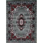 Oriental Isfahan Gray Area Rug Rug Size: Rectangle 5'2