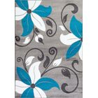 Turquoise Area Rug Rug Size: Rectangle 5'2