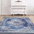 Gries Oriental Dark Blue Area Rug Rug Size: Rectangle 5'2