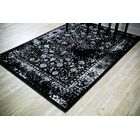 Durrah Distressed Gray/Black Area Rug Rug Size: Rectangle 5'2'' x 7'2''