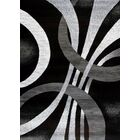 Cockfosters Modern Abstract Gray/Black Area Rug Rug Size: Rectangle 5'2'' x 7'2''