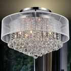 12-Light Semi Flush Mount Shade Color: Clear White