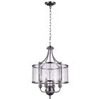 Renishaw 4-Light Drum Chandelier