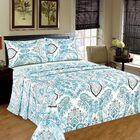Frozen Forest 1000 Thread Count 100% Cotton Flat Sheet Set Size: California King