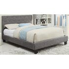 Upholstered Platform Bed Size: Double, Color: Gray