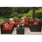 Eldredge 7 Piece Sectional Set with Cushions Color: Terracotta