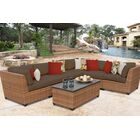 East Village 7 Piece Rattan Sectional Set with Cushions Color: Cocoa