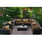 Barbados 10 Piece Rattan Sectional Set with Cushions Color: Cocoa