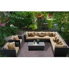 Barbados 10 Piece Rattan Sectional Set with Cushions Color: Wheat