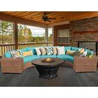 Laguna 6 Piece Fire Pit Seating Group with Cushion Fabric: Aruba