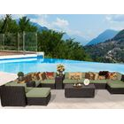 Eldredge 13 Piece Sectional Set with Cushions Color: Cilantro