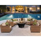 East Village 8 Piece Sectional Set with Cushions Fabric: Gray