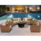 East Village 8 Piece Sectional Set with Cushions Color: Wheat