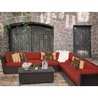 Barbados 8 Piece Rattan Sectional Set with Cushions Color: Terracotta