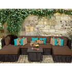 Eldredge 7 Piece Sectional Set with Cushions Color: Cocoa