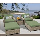 Monterey 5 Piece Conversation Set with Cushions Fabric: Cilantro