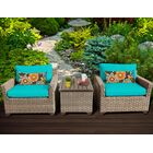 Monterey 3 Piece Conversation Set with Cushions Fabric: Aruba