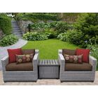 Florence 3 Piece Rattan Conversation Set with Cushions Color: Cocoa