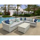 Ansonia 7 Piece Sectional Set with Cushions Color: Gray