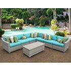 Ansonia 8 Piece Sectional Set with Cushions Color: Aruba