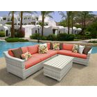 Ansonia 7 Piece Sectional Set with Cushions Color: Tangerine