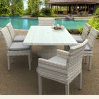 Ansonia 7 Piece Dining Set Cushion Color: Gray