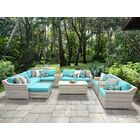 Ansonia 12 Piece Sectional Set with Cushions Fabric: Aruba