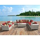 Ansonia 11 Piece Sectional Set with Cushions Color: Terracotta