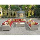 Ansonia 10 Piece Sectional Set with Cushions Color: Terracotta