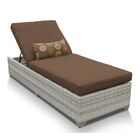 Ansonia Contemporary Chaise Lounge with Cushion Color: Cocoa