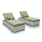 Ansonia Chaise Lounge with Cushion Color: Cilantro