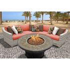 Ansonia Contemporary 4 Piece Sofa Set with Cushions Color: Tangerine