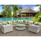 Ansonia 8 Piece Sectional Set with Cushions Color: Cilantro