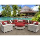 Ansonia 8 Piece Sectional Set with Cushions Color: Terracotta