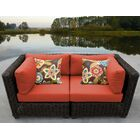 Eldredge Loveseat with Cushions Fabric: Tangerine