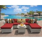 Ansonia 7 Piece Sectional Set with Cushions Color: Terracotta