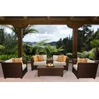 Barbados 6 Piece Rattan Sofa Set with Cushions Color: Beige
