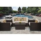 Belle 5 Piece Rattan Sofa Seating Group with Cushions Fabric: Beige
