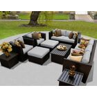 Barbados 12 Piece Sectional Set with Cushions Fabric: Gray