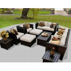 Barbados 12 Piece Sectional Set with Cushions Fabric: Beige